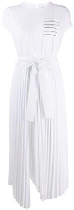 Brunello Cucinelli Panelled Pleated Dress