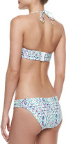 Shoshanna Soshnna Occitan Ikat Twisted Bandeau Bikini Top