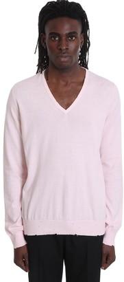 Maison Margiela Knitwear In Rose-pink Wool
