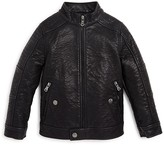 Urban Republic Boys' Textured Faux Leather Jacket - Sizes 4-7