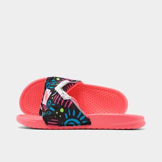 Nike Men's Benassi JDI Fanny Pack Printed Slide Sandals