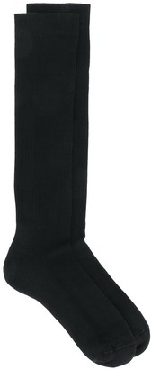 Rick Owens Knitted Logo Socks