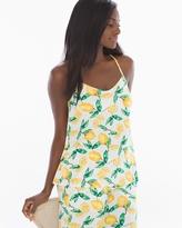 Soma Intimates Racerback Pajama Cami Lemon Citrus Ivory