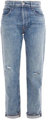 Rag & Bone Rosa Distressed Faded Boyfriend Jeans