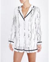 Hanro Giulia satin pyjama shirt