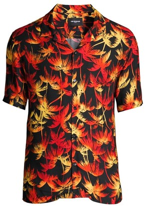 The Kooples Relaxed-Fit Sunset Palm Tree Camp Shirt