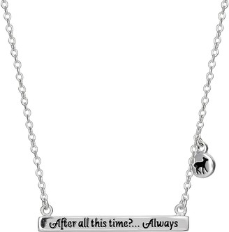 "Licensed Character Harry Potter ""Always"" Bar Necklace"
