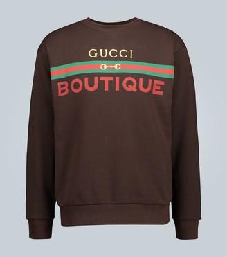 Gucci Boutique printed sweatshirt
