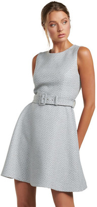 Forever New Brenda Belted Boucle Dress