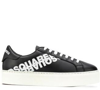 DSQUARED2 Printed Logo Low-Top Sneakers