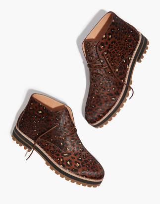Madewell The Wren Boot in Painted Leopard Calf Hair