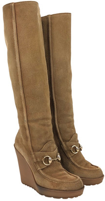 Gucci Beige Suede Boots