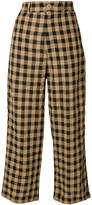 Aspesi cropped checkered trousers