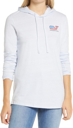 Vineyard Vines Slubbed Flag Whale Graphic Hoodie