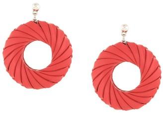 Bottega Veneta Intrecciato Weave Earrings