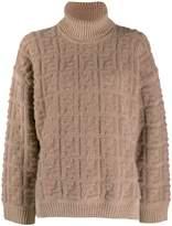 Fendi beige ff logo sweater