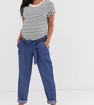 Mama Licious Mamalicious maternity loose denim pants