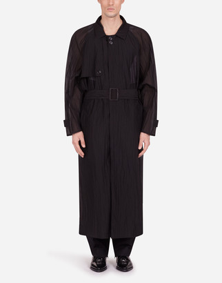Dolce & Gabbana Ripstop Single-Breasted Trench Coat