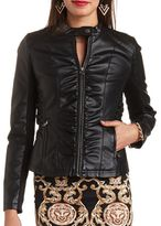 Charlotte Russe Faux Leather Moto Jacket