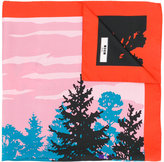 MSGM Forest print scarf