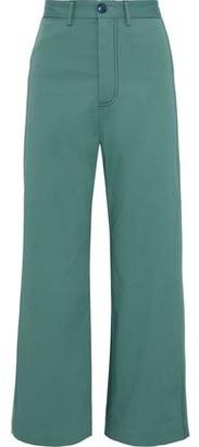 Sea Stella Cropped Cotton-blend Twill Wide-leg Pants