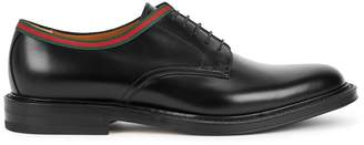Gucci Beyond Black Leather Derby Shoes