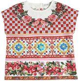 Dolce & Gabbana Mambo Print Cotton Poplin Top