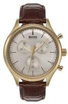 HUGO BOSS Companion Brown Leather Strap Watch