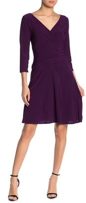 Tash + Sophie Quarter Sleeve Wrap Dress