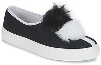 Minna Parikka POM POM women's Slip-ons (Shoes) in Black