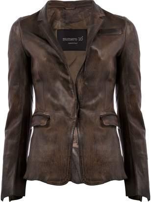 Numero 10 chocolate leather jacket