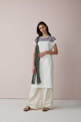 Closed Ivory Organic Cotton Dress - xs