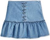 Tommy Hilfiger Ruffled Denim Skirt, Big Girls (7-16)