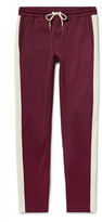 Moncler Slim-fit Striped Jersey Sweatpants - Burgundy