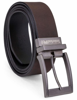 Timberland Men's Big and Tall 38mm Harness Roller Reversible Leather Belt
