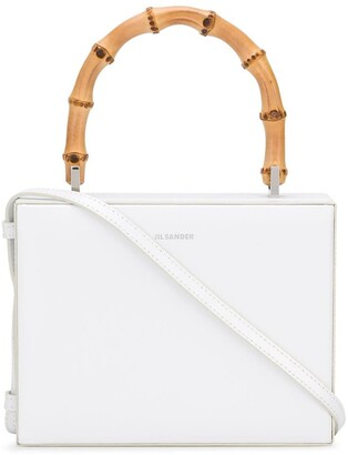 Jil Sander Bamboo Handle Boxy Shoulder Bag