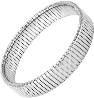 Janis Savitt Half Inch Rhodium Plated Cobra Cuff Bracelet