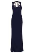 Quiz Navy Embellished Cut Out Fishtail Maxi Dress