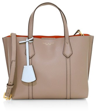 Tory Burch Small Perry Coated Leather Tote