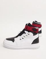 Jordan Nike Air 1 Nova trainers in white and black