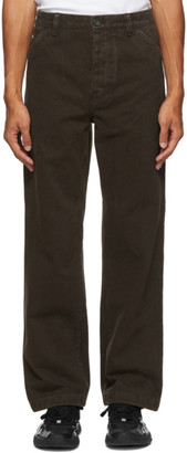 Acne Studios Brown Twill Straight-Leg Chino Trousers