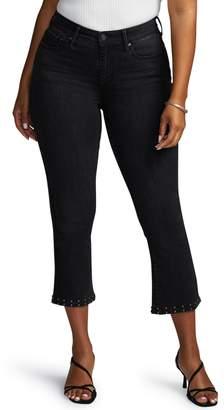 NYDJ Curves 360 by Shape Studded Kick Flare Crop Jeans