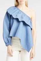 Rachel Comey Georgia One-Sleeve Top