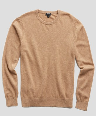 Todd Snyder Cashmere Crewneck Sweater in Camel