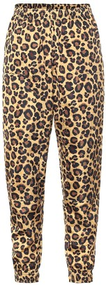 Adam Selman Sport Leopard-print technical trackpants