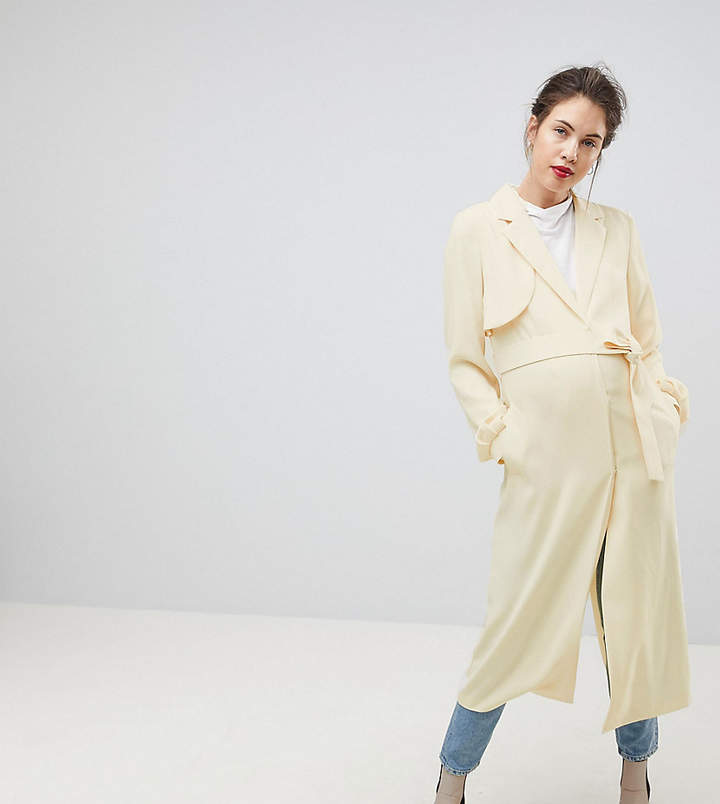 Asos DESIGN Maternity crepe duster mac
