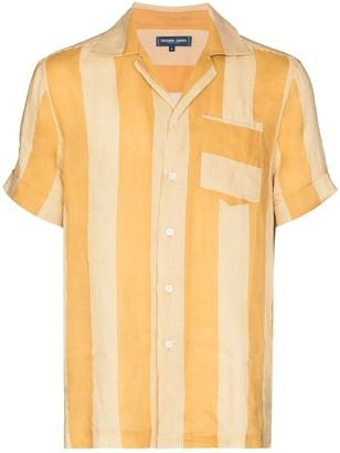 Frescobol Carioca Striped Camp Collar Shirt