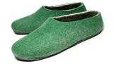 Men's Green Organic Felt Slippers
