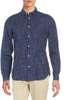7 For All Mankind Regular-Fit Tonal Check Cotton Sportshirt