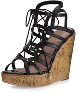 Joie Larissa Gladiator Wedge Sandal, Black